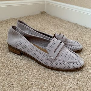 NWOB Lucky Brand Grey Suede Caylon Loafers